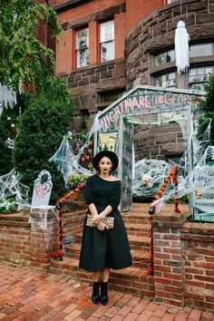 Full midi skirt, sweater, leopard clutch and pointed toe booties// Altuzarra for Target boots // Wicked Witch // Halloween inspired www.thebobbedbrunette.com