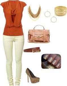 """""""neutrals with a pop"""" by zippy7flaca on Polyvore"""