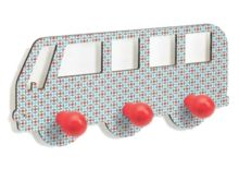 A nice wooden hanger for little coats, umbrellas or bags, in the shape of a bus with windows. Part of the Teo range from Djeco. Dimensions x Pack 38 x 24 x Brand Djeco Product Code Barcode 3070900032736 Wooden Hangers, Bus, Coat Hooks, Baby Room, Kids Rugs, Shapes, Bedroom, Children, Kid Friendly Rugs