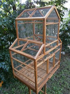 handmade bird cage by birdworld77 on Etsy https://www.etsy.com/listing/201816644/handmade-bird-cage