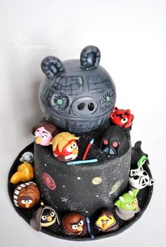 Angry Birds Star Wars Cake, Complete With Pig Death Star