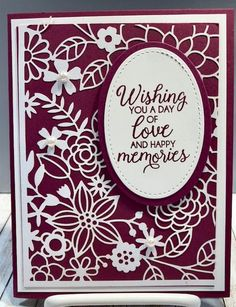 Delightfully Detailed Laser-Cut Speciality Paper (Stamping With Tamie) Laser Cut Paper, Thanks Card, Paper Lace, Specialty Paper, Die Cut Cards, Stamping Up Cards, Anniversary Cards, Wedding Anniversary, Cards For Friends