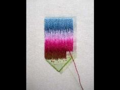 Long and short stitch embroidery - YouTube