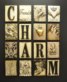"""Charmed, I am sure,"" could be the title of this four by four collection of Sid Dickens memory blocks."