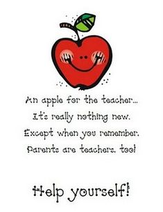 Apples for parents (open house / back to school)