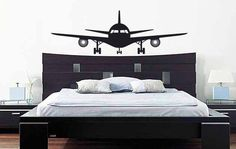 Airplane Wall Decal: Plane Wall Decal - Airplane Vinyl Wall Decor by MyVinylDecor on Etsy https://www.etsy.com/listing/185134263/airplane-wall-decal-plane-wall-decal