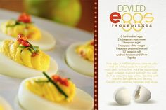 Deviled Eggs digital recipe card