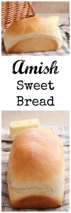 "This Amish Sweet bread is simple to make and deliciously sweet. Use it for sandwiches, French toast, or any other bread needs. I'm not sure where the term ""Amish Bread"" came from but this is a Amish Sweet Bread - Amish sweet bread recipe Amish Sweet Bread Recipe, Amish Bread Recipes, Amish White Bread, White Bread Recipes, Sweet Bread Machine Recipes, Wonder Bread Recipe, Simple Bread Recipe, Breadmaker Bread Recipes, Gastronomia"