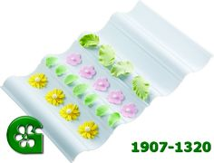 Wilton item number 1907-1320. Visit www.GalesWholesale.com for more information. Wilton Wave Flower Former Set. Use this convenient connecting platform to dry flowers, leaves and other decorations in royal icing, gum paste or fondant. Wave shape makes it easy to dry concave or convex shapes