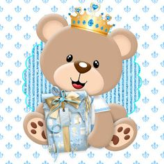 Prince Teddy Kit for free printable. Baby Shawer, 3rd Baby, Party Kit, Party Printables, Free Printables, Baby Shower Invitaciones, Bear Party, Baby Disney, Baby Boy Shower