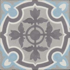 Carreau ciment 15x15 cm Décor Lille clair