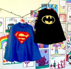 How to make Fleece poncho Superhero capes :-)