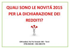 #dichiarazionedeiredditi2015 #cafconfsal #cafconfsalterni #terni