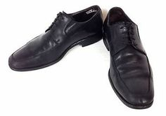 Bruno Magli Shoes Leather Black Italy Lace Up Rammoia Oxfords Dress Mens 9 5 M   eBay