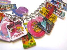 Retro candy charm bracelet