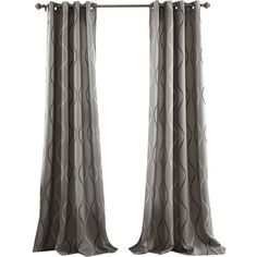 Bring a pop of pattern to your cozy master suite with this blackout curtain panel, perfect for keeping the sunlight out while you sleep in.