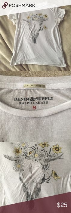 RL Denim& Supply shirt Denim & Supply shirt. Extremely soft, but a little sheer. Size S. Feel free to leave any comments & questions! And I'm definitely open to reasonable offers :) Denim & Supply Ralph Lauren Tops Tees - Short Sleeve