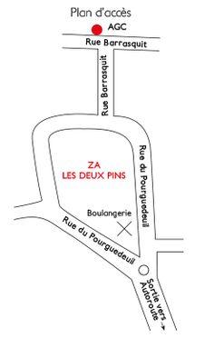 Plan d'accès de l'atelier #AGC à Capbreton