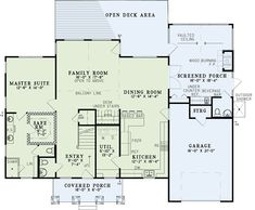 Craftsman Ranch House Plan 82335 Level One