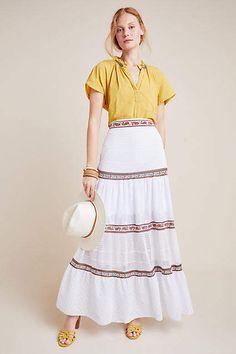 Cecilia Prado Lori Tiered Maxi Skirt