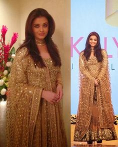 Aishwarya+Rai+in+Sabyasachi+Golden+Ankle+length+Anarkali+Frock+(1).jpg (501×624)