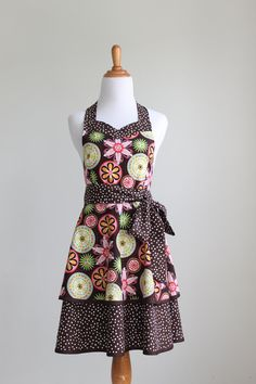 Apron Pattern PDF Women's Full and Half by ModernVintageDesigns