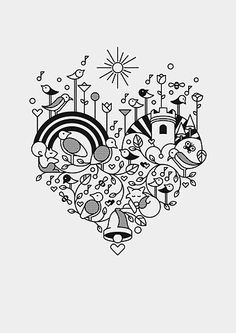 Free Doodled Heart Printable Share Today S Craft And Diy