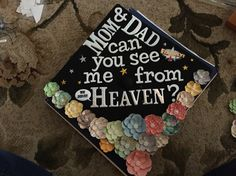 Graduation cap in honor of mom and dad