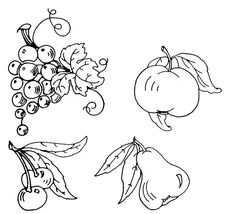 fruit embroidery patterns | Fruit embroidery designs.