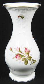 Classic Rose collection Sanssouci vase decorated with Moss Rose design  23 cm