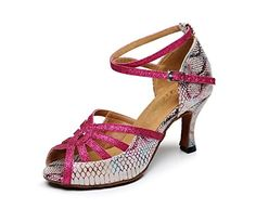 BCLN Womens Open toe Sandals Latin Salsa Tango Heels Practice Ballroom Dance Shoes with 275 HeelMulti BM US >>> You can get more details by clicking on the image. (This is an affiliate link) Women's Open Toe Sandals, Shoes Sandals, Top Shoes, Tango Shoes, Latin Dance Shoes, Ballroom Dance Shoes, Occasion Shoes, Sofft Shoes, Serpent
