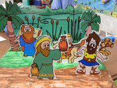 The Story of Greedy Gehazi...  Clip Art and Foam Core Board.  Score the Board and you have a GREAT SLIDING VISUAL.  Hands On Bible Teacher