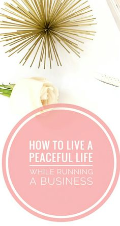 How to live a peaceful life while running a buisness! If you want to live a peaceful life while running your buisness then you can check out these 3 simple tips to help you achieve that! You can read it now or pin it for later!