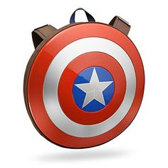 Carry your things like Captain America does - behind his shield! This replica shield is actually a backpack, capable of holding all sorts of gear - including a padded laptop/tablet pocket.
