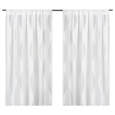 IKEA - MURRUTA, Lace curtains, 1 pair, , The lace curtains let the daylight through but provide privacy so they are perfect to use in a layered window solution.The rod pocket allows you to hang the curtains directly on a curtain rod.