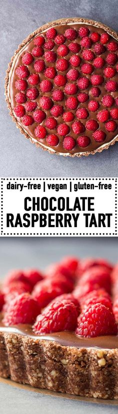 A gluten-free, refined-sugar-free, delicious Almond Chocolate Raspberry Tart made with a vegan almond crust and vegan dark chocolate cream. Use vegan white chocolate and make it a Vegan Chocolate Raspberry Tart! Chocolate And Raspberry Tart, Vegan White Chocolate, Raspberry Tarts, Raspberry Recipes, Gluten Free Chocolate, Best Chocolate, Chocolate Desserts, Chocolate Cream, Paleo Dessert