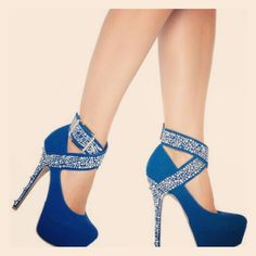 #shoes #HighHeels #tacones #zapatos #blue