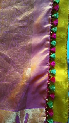 Tassels Saree Tassels Designs, Saree Kuchu Designs, Hand Embroidery, Embroidery Designs, Banarsi Saree, Saree Border, Fashion Vocabulary, Saree Collection, Sarees