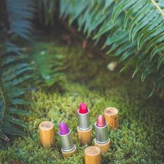 Lush. Green. Beautiful.  Our Elate Lipsticks: Wild Grace and Muse in their natural habitat. What's your shade?  Don't forget to review your faves on our website...we pick our favorite review every month to win the product they reviewed!  . . . @chelseadawn_weddings