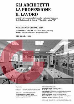 """""""Gli architetti, la professione, il lavoro"""", 2014 - progetto grafico Redazione di AL"""