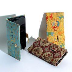 """国内外を問わず大変ご好評をいただいております『iPhone6/6s手帳型ケース』に新しい文様が加わりました。ご自分用に、海外の方や、着物がお好きな方へのプレゼントにご利用ください。 Additional designs are added to our """"iPhone6/6s Notebook-type Case"""".New designs are receiving favorable reception both in Japan and abroad.Good for you, your KIMONO-loving friends and your foreign friends. #iPhone #silk #case #スマホ"""