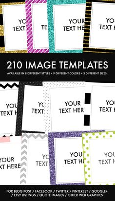 Image Templates For Your Blog Posts + Social Media Posts --- 210 easy-to-edit image templates you can use for your blog posts and social media posts - Get 'em @ http:∕∕www.hipmediakits.com∕image-templates-blog-post-social-media∕