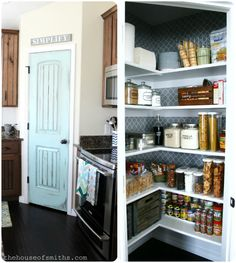 The House of Smiths - Home DIY Blog - Interior Decorating Blog - Decorating on a Budget Blog  That's it. I'm painting my pantry door. I've decided. And. It's time to get a cricket and label the crap outta my house and organize my pantry.
