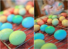 kool-aid eggs and Easter crafts