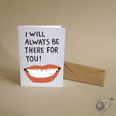 LIP SERVICE . Forever . Greeting Card . Love . Kraft by TAYHAMS
