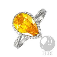 FERI Golden Sunset    Global Wealth Trade Corporation - FERI Designer Lines Sterling Silver Pendants, Wealth, Gemstone Rings, Engagement Rings, Gemstones, Sunset, Jewelry, Design