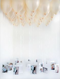 Balloon Chandelier with Photos.