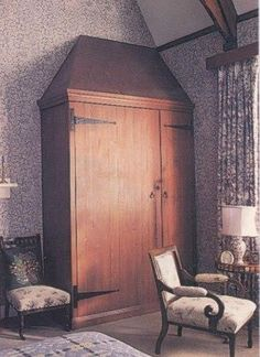 William Morris Arts & Crafts Gothic style built-in wardrobe at The Red House
