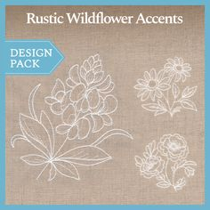 A Rustic Wildflower Accents Design Pack - Lg design (X13881) from www.Emblibrary.com