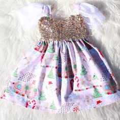 Gingerbread Sparkle Dress Swing Dress READY TO SHIP #bellathreadspinterest